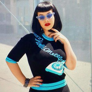 Kissing Charlie 'Hold On' Sweater in Black & Blue